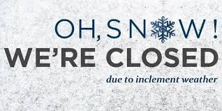 DON'T FORGET. We're closed Monday through Thursday! Be safe. ⬇️