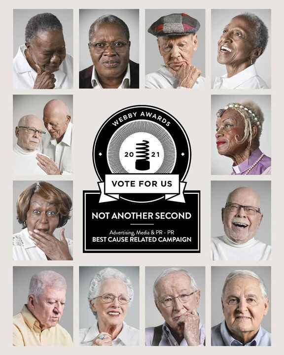 The 'Not Another Second' project celebrating LGBT+ seniors is nominated at the The Webby Awards for 'Best Cause Related ...