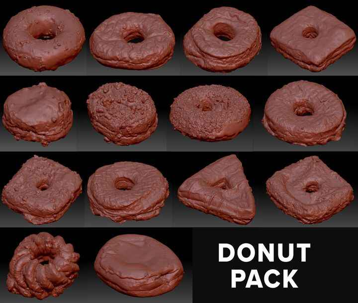 Buy some doughnut.... 3D scans!3D assets for use in Film, TV, Unity, Unreal, and anywhere else you might need photo-real...