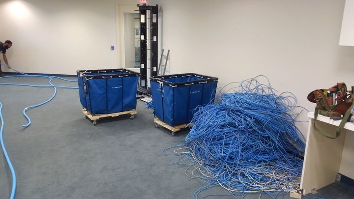 Squire Patton Boggs lease was up! So they had to remove all voice and data cables, this is just the start of the 5th flo...