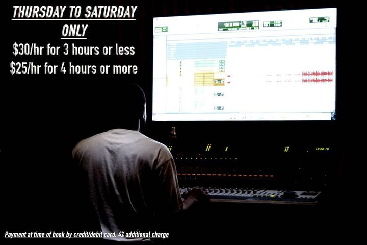Book a session for this Thursday, Friday or Saturday and get $10 or $15 off each hour. DM for more info. #recordingstudi...
