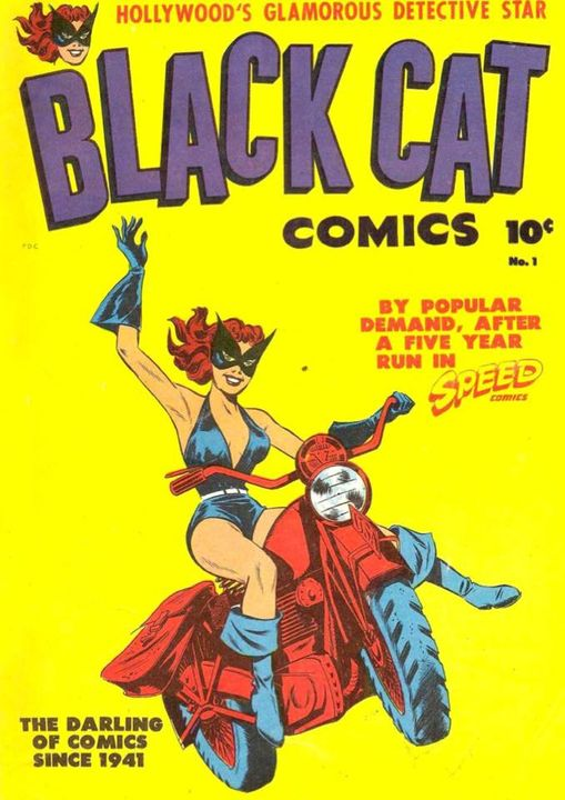 For a comic from the Golden Age, check out the Black Cat Comics on the app today!