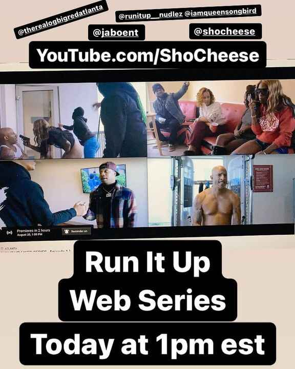 Today & Every Friday at 1pm est.RUN IT UP - Web Series - live on YouTube.com/ShoCheese Go Tune In Now !!!