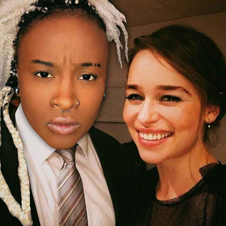 Just a casual Thursday night with my close personal friend Emilia Clarke 😂
