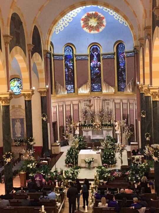 Beautiful church for a beautiful mass the night before Easter