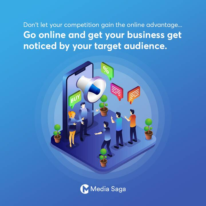Don't let your competition gain the online advantage...Go online and get your business get noticed by your target audien...