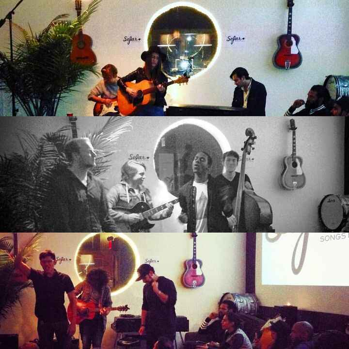 Supes fun to host @sofarsounds last night with @therooksband and @jonifatora and @negativedeath  lets do it again soon!
