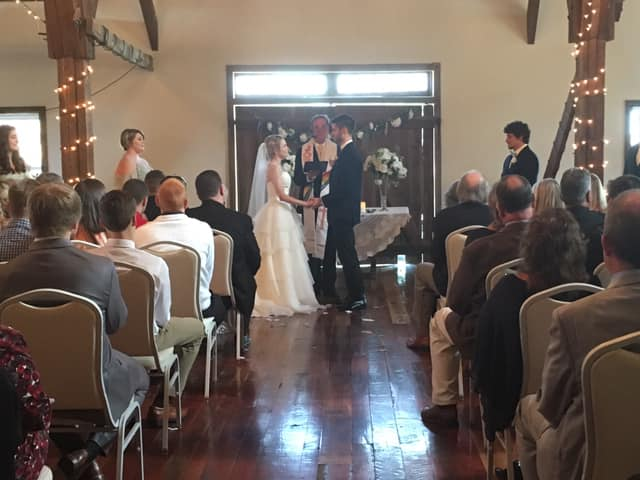 Video taped the wedding ceremony of Jeremy and Katrina Flick at the Manor View in manor Twp   November 2, 2019