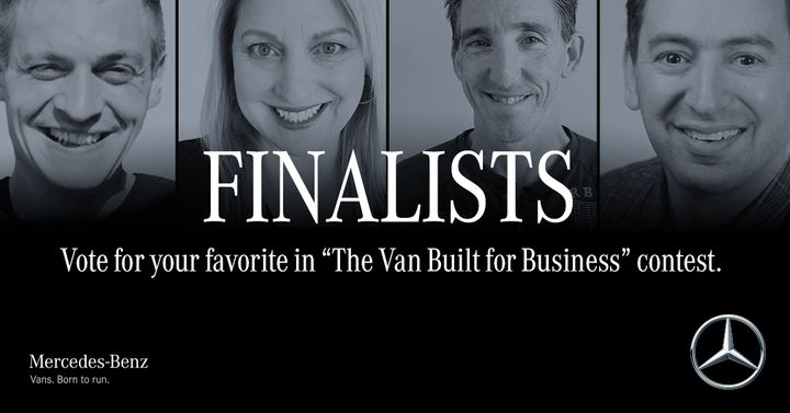 One Van. Four finalists. Your vote matters. Help one business owner win The all-new Sprinter. http://bit.ly/2kZCwzN