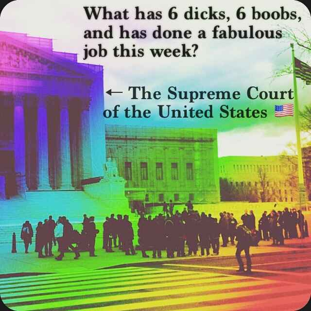 The ONLY reason to support another male on the Supreme Court is so this math/anatomy/law joke still works.  #scotus #TBT
