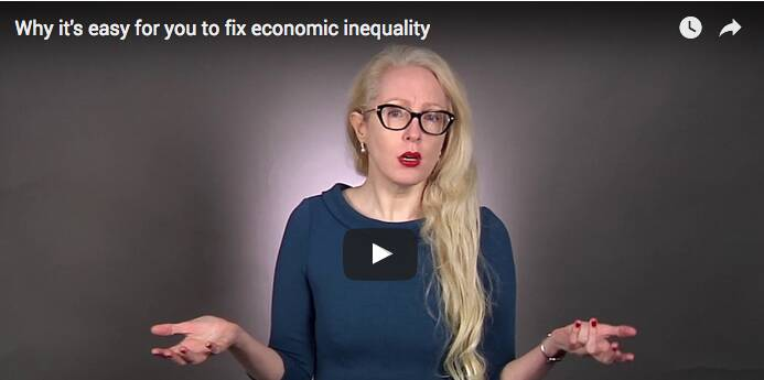 Former Investment Banker, Katherine Venice, has a plan to fix economic inequality! #incomeinequality #uswealthgap #pover...