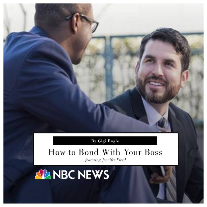 Jennifer Freed PhD offers advice on communicating better with your boss for NBC News! Full article: http://nbcnews.to/2p...