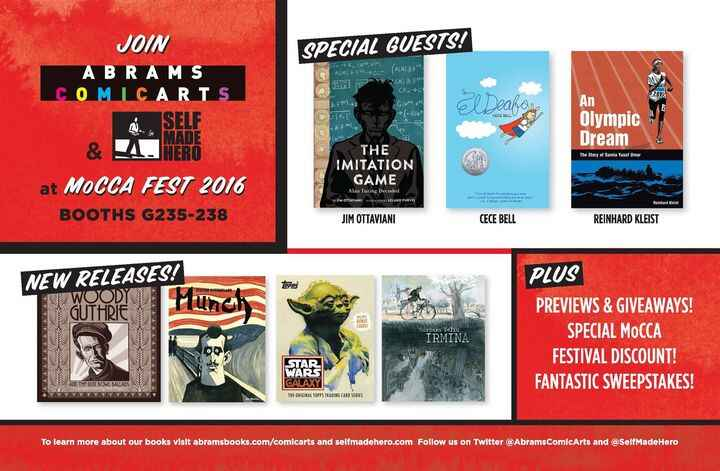 We'll be at MoCCA, the annual comics festival hosted by the Society Of Illustrators in NYC, this weekend! Stop by our bo...