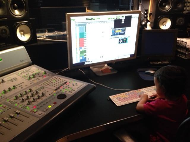 Ear Goo's newest engineer!  Call Justin for booking...