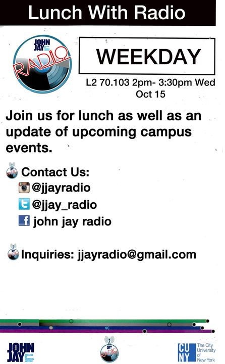 """JOIN US NEXT WEDNESDAY TO HAVE """"LUNCH WITH RADIO"""" ! Information Session with FREE FOOD !! College Kids LOVE FREE FOOD."""
