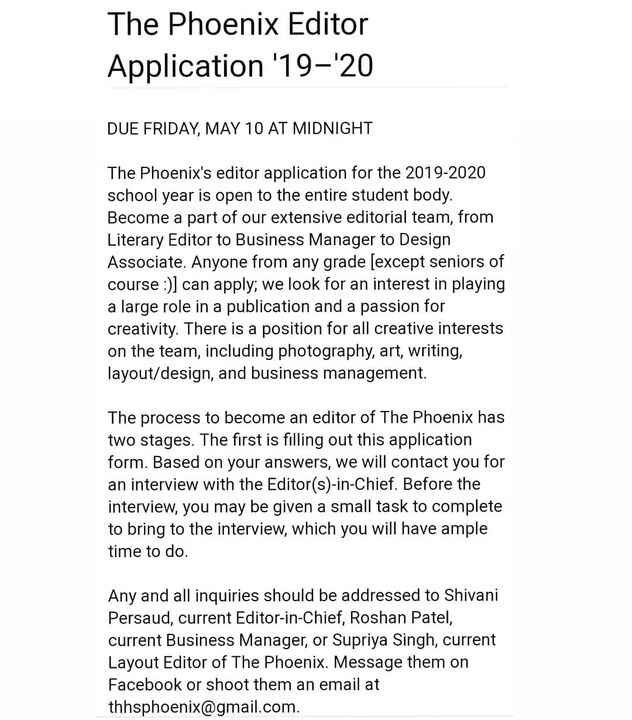 The FNX Editor Application is now LIVE! Join our editorial team for the 2019-2020 school year! Application closes SUNDAY...