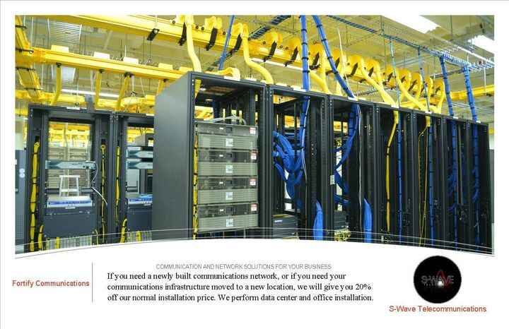 20% Off Normal Installation Price of Communication and Network Installation for your Data Center or Office