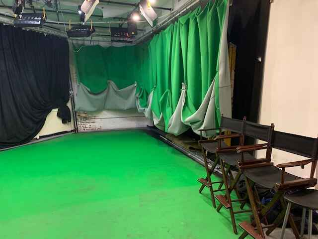 Super-cleaned and ready to go!  Our studio is back in action and standing by to meet your production needs: green screen...