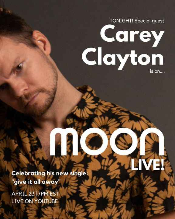 super excited to have the homie @careyclayton on Moon LIVE! tonight at 7pm 👽🤟hit the link in bio for the youtube! full p...