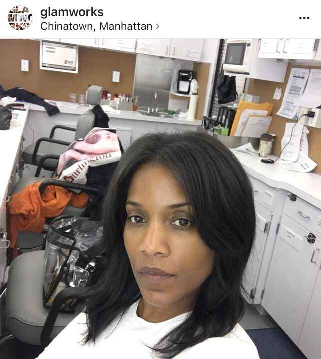 Last Looks! Setlife, behind the scenes in the hairandmakeup trailer. #nycshooting #tvproductions #hairmaven
