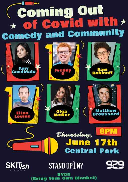We're producing a show with 929 English and Stand Up NY in Central Park! Come see us next Thursday (6/17) at 8PM!Registe...