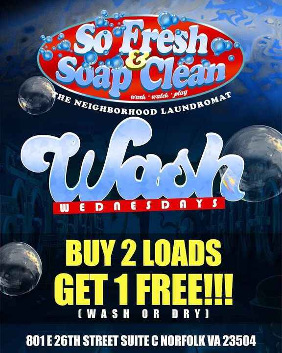 2 for 1 at @sofreshsoapclean Buy 2 washes get 1 FREE!!(Wash or Dry)801 b east 26th StreetCall 757.695.8805 for more info...