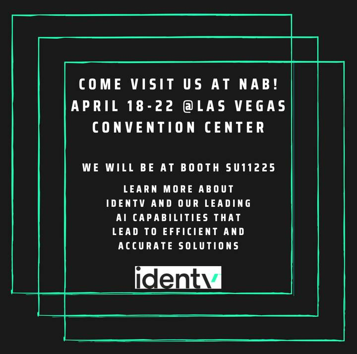 Come visit @IDenTVSF at @NABShow April 18-22! We will be in booth SU11225. We hope to see you there! http://ow.ly/GFZC50...