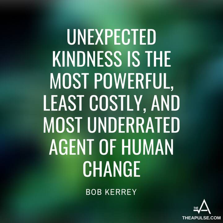 Unexpected kindness is the most powerful, least costly, andmost underrated agent of human change.✍️#lifequote #kindness ...