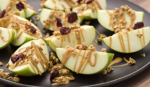 Peanut. Butter. Apple. Nachos. Enough said. Learn how to make them with this awesome recipe from Katie: http://ow.ly/VkU...