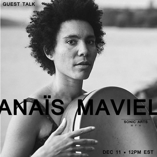 The Sonic Arts Student Union welcomes Anaïs Maviel for a guest talk today at noon!  Zoom info:https://brooklyncollege.zo...