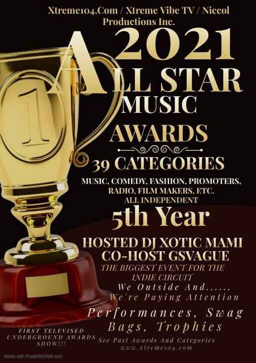 """#MariaMyraine is nominated for """"Publicist of the Year"""" at this year's 2021 All Star Music Awards!"""