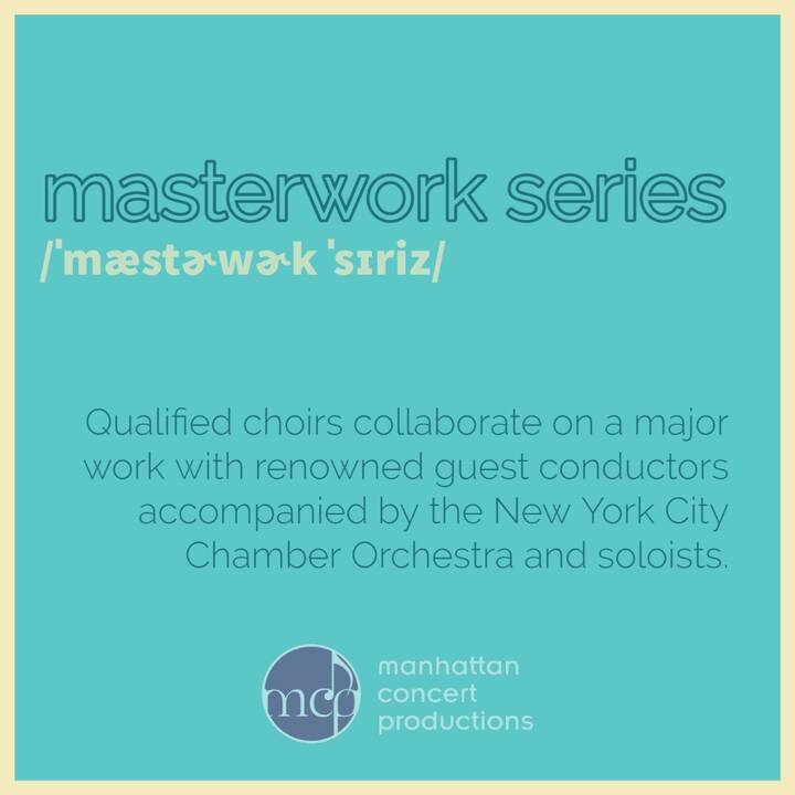 LAST but certainly not least in #DefiningMCP is our coveted #MasterworkSeries: qualified ensembles join forces with a di...