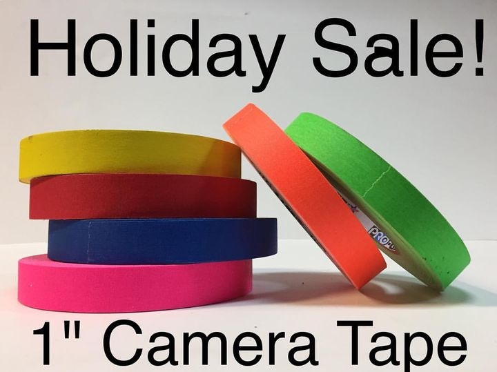 """Save 35% on 1"""" Camera/gaffer tape!  6 color leash for $60 with pickup or $65 with USPS priority shipping!  Email eastcoa..."""