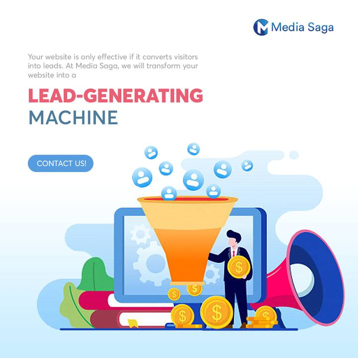 Your website is only effective if it converts visitors into leads. At MediaSaga, we will transform your website into a l...