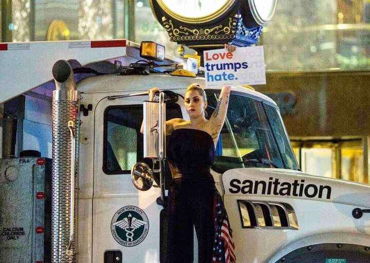 #LadyGaga was amongst the 10s of thousands of people protesting #DonaldTrump's win on Wednesday.  The 30-year-old singer...