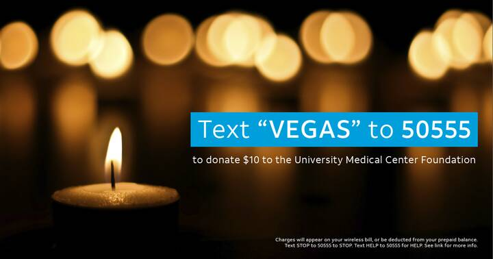Our thoughts are with those affected by the tragedy in Las Vegas. AT&T customers can help by texting to donate. http://g...