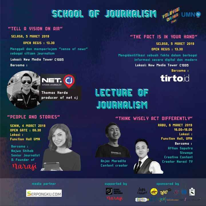 TELEVISIONAIR 2019PROUDLY PRESENTS...Ikuti Lecture of Journalism: ...1. People & Stories with Najwa Shihab, Founder of N...