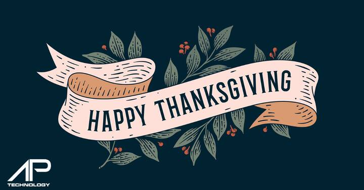 We want to wish everyone a Happy Thanksgiving! We are thankful that we get to help businesses succeed online everyday!