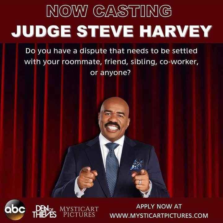 NOW CASTING nationwide for individuals with humor, heart, and passion who are ready to plead their case on #JudgeSteveHa...