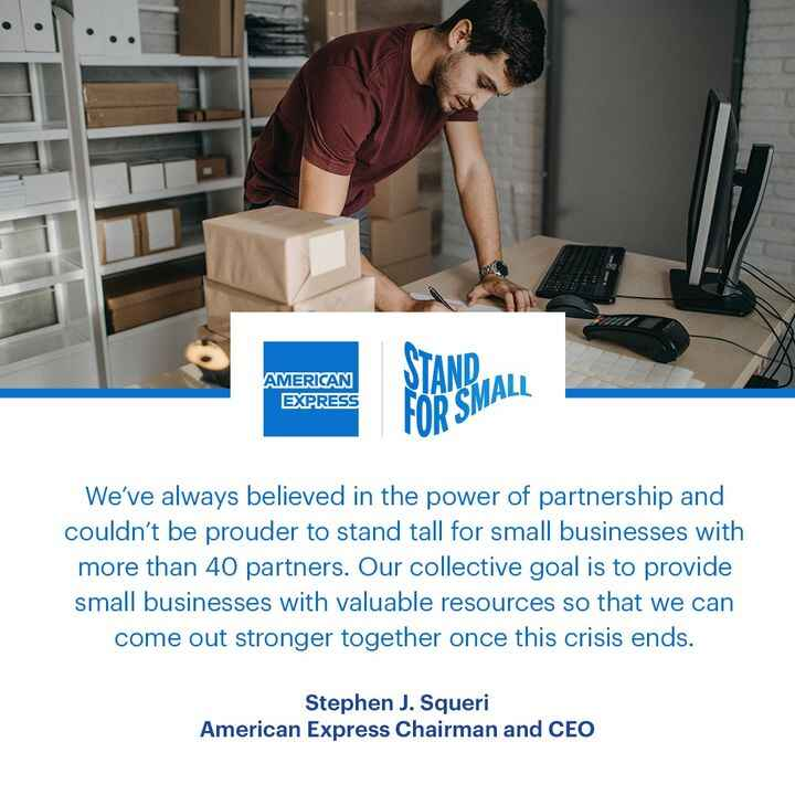 This week, American Express launched Stand for Small, a coalition of 40+ corporate partners, to show meaningful support ...
