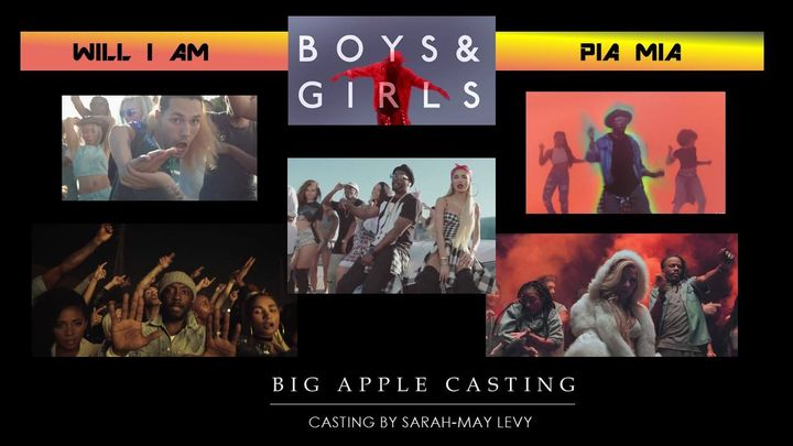 """JUST RELEASED! Check out our amazing Cast in the new will.i.am feat. Pia Mia """"Boys & Girls""""Casting By Sarah-May LevyVide..."""