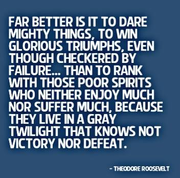 Dare mighty things!!! Some days we just need a reminder of our amazing journeys, where challenges have become our greate...