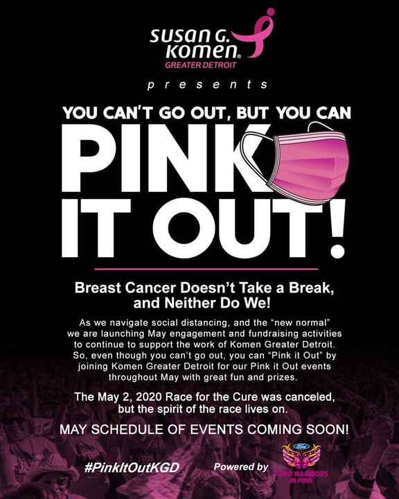 Client Project Post: The 2020 Race for the Cure scheduled for May 2nd has been canceled but Susan G. Komen Greater Detro...