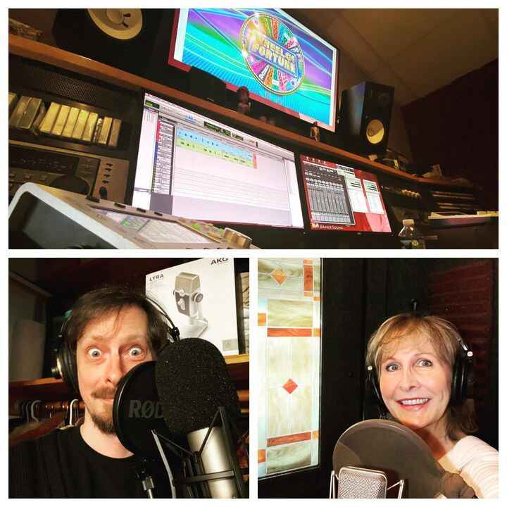 Connecting with voices across the country with our friends at @oinkinkradio to produce Wheel of Fortune radio.