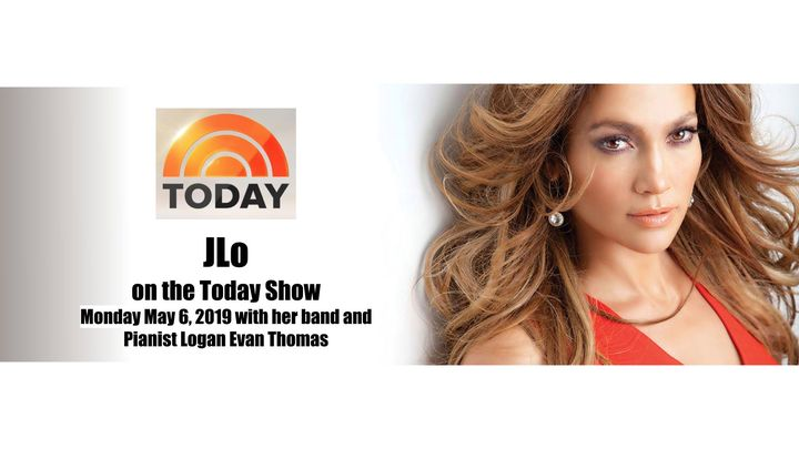 JLo LIVE on the NBC 4 Today Show Monday May 6, 2019 with her band andPianist Logan Evan Thomashttps://www.facebook.com/j...