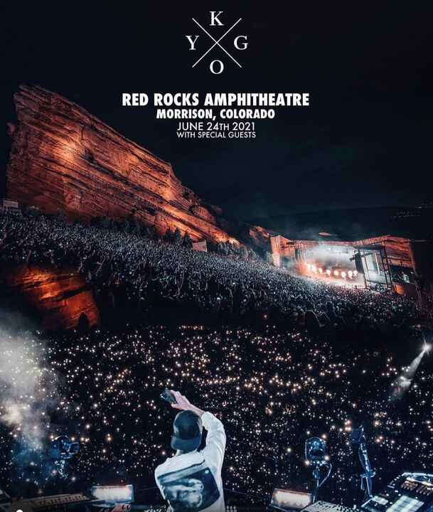 Red Rocks was beyond unimaginable for our first show back in 18 months with @kygomusic. Sold out in 2 minutes!! Can't wa...