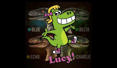 Did you see Lucy's cousins on the big screen in Jurassic World this past weekend? While Lucy was unfortunately too young...