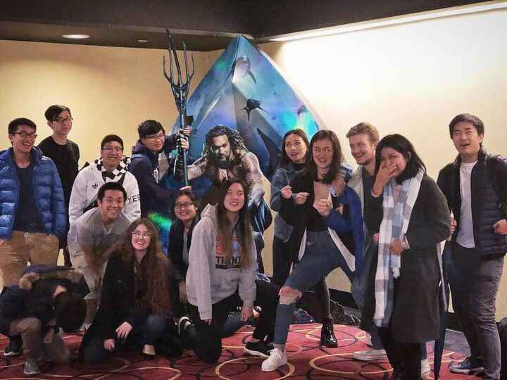 Given all of these smiling faces, I think it's safe to say that Aquaman was a success! #CBLmovienight #comic #comics #co...