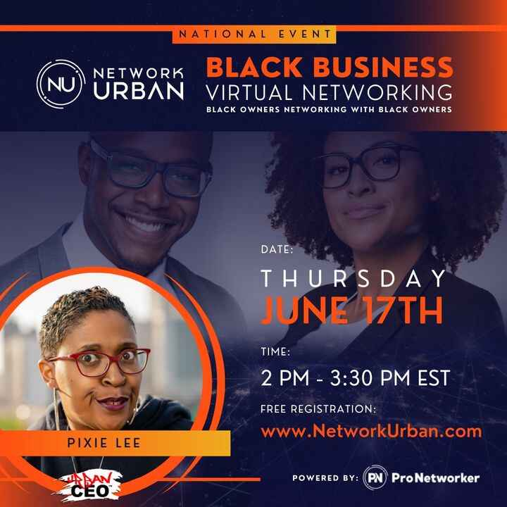 Join us TODAY at 2pm at the Urban Atlanta (@iamurbanatlanta ) Black Business Virtual Networking Event for the ultimate U...
