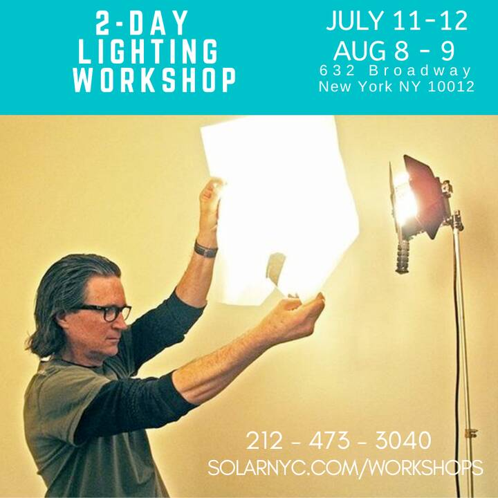 Flip the SWITCH!See the LIGHT!2-Day Hands-on Lighting workshop AUGUST 8-9http://www.solarnyc.com/workshopsJoin us! Be BE...